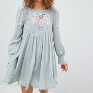 NWT Free People Mohave Embroidered Dress Sz Small